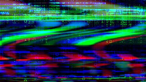 Multi-Color Glitch Animation
