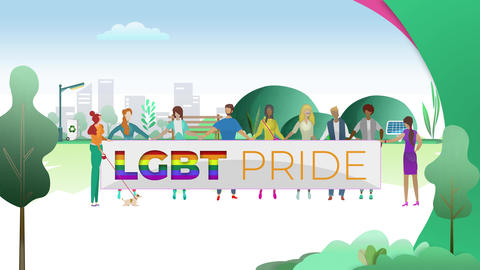 Gay Pride Demonstration Event Animation
