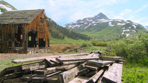 An abandoned mine in the Colorado Rocky Mountains Footage