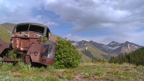 Beautiful time lapse traveling shot across Rocky M Footage