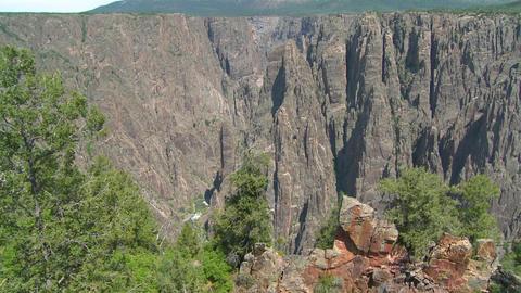 Grand Canyon of the Gunisson establishing shot Stock Video Footage