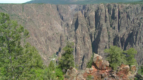 Grand Canyon of the Gunisson establishing shot Stock Video Footage