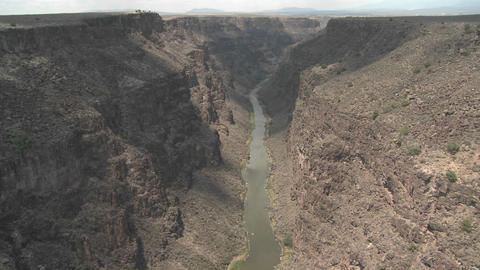 The Rio Grande River snakes through a New Mexico c Footage