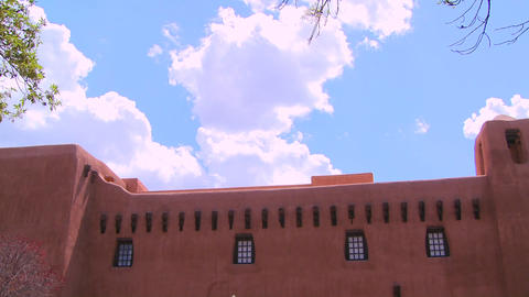 Time lapse of clouds behind Santa Fe, New Mexico Stock Video Footage