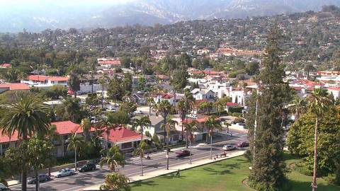A high angle view over Santa Barbara, California Stock Video Footage