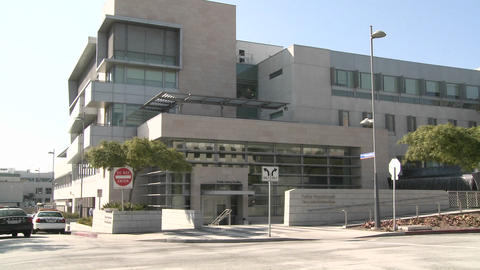 Establishing shot of a police station Stock Video Footage