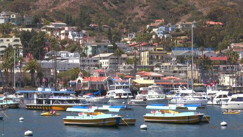 Establishing shot of catalina Island Stock Video Footage