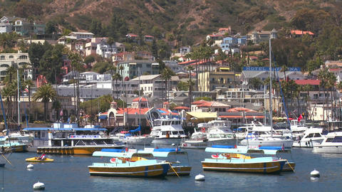 Establishing shot of catalina Island Stock Video Footage