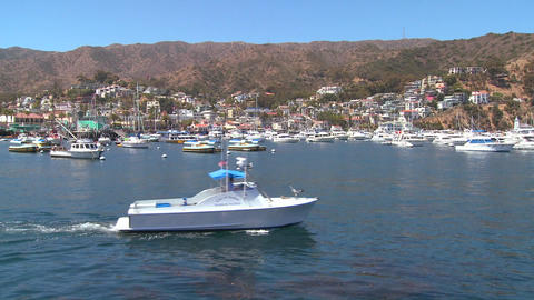 Wide establishing shot of catalina Island Footage
