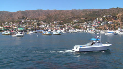 Wide establishing shot of catalina Island Stock Video Footage