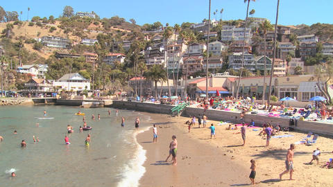 Classic Southern California tourist resort scene a Stock Video Footage