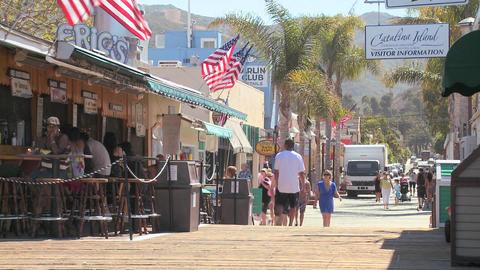 Classic Southern California tourist resort scene a Stock Video Footage