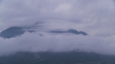 Beautiful timelapse of mountains and fog Stock Video Footage