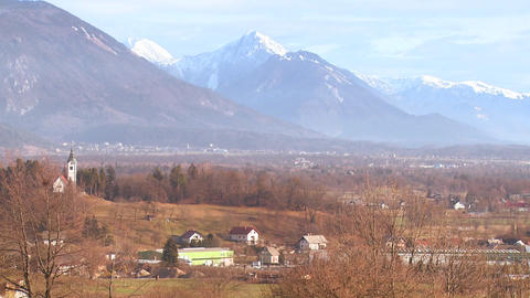 The countryside of Slovenia or an Eastern European Stock Video Footage