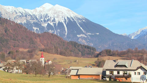 The countryside of Slovenia, Austria, Switzerland Stock Video Footage