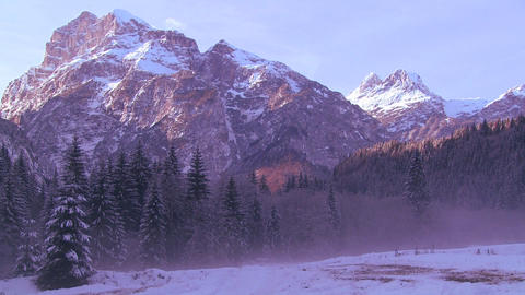 Early morning light in the Swiss Alps Stock Video Footage