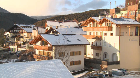 A snowbound Tyrolean village in the Alps in Austri Stock Video Footage