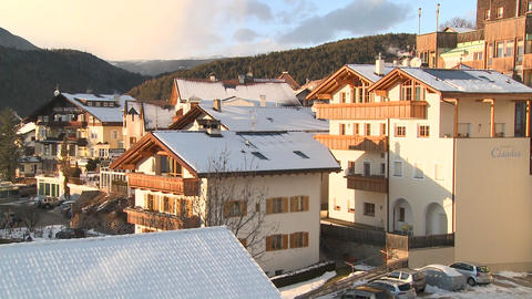 A snowbound Tyrolean village in the Alps in Austri Footage