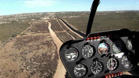 A pilot flies along the U.S. boarder Stock Video Footage