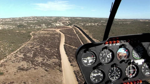 A pilot flies along the U.S. boarder Footage