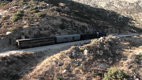 A train passes through a remote region Footage
