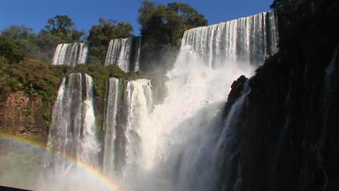 The spectacular Iguacu Falls on the Brazil/Argentina border Footage