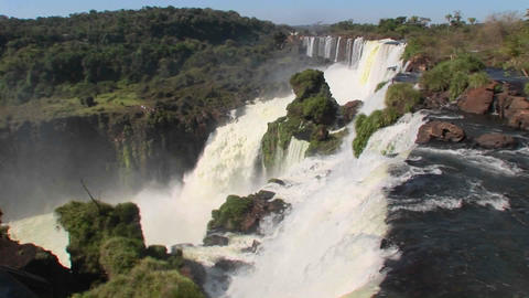 A perspective looking over the edge of a waterfall,... Stock Video Footage