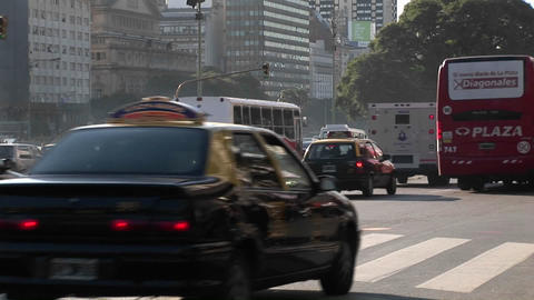 Buenos Aires, Argentina capitol busy street with traffic... Stock Video Footage