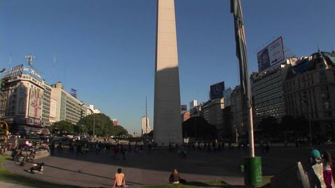 Buenos Aires, Argentina capitol Nuevo de Julio intersection obelisk Footage