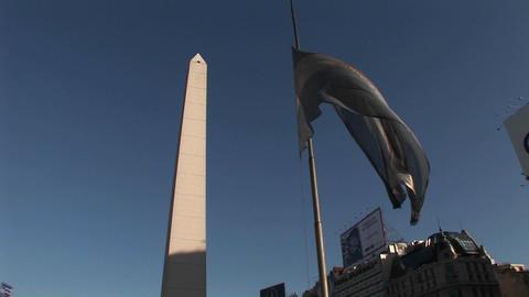 Buenos Aires, Argentina capitol Nuevo de Julio buildings... Stock Video Footage