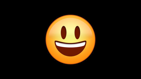 Bright Smile Emoji Animated Loops with Alpha Channel Animation