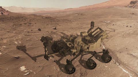 Curiosity mars rover self assembly Footage