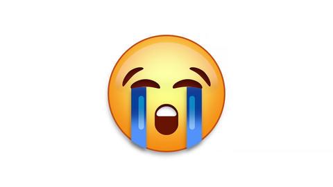 Bawling Emoji Animated Loops with Luma Matte Animation