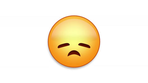 Disappointed Emoji Animated Loops with Luma Matte Animation