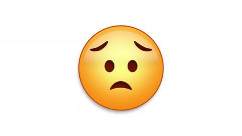 Eyebrow Sweat Emoji Animated Loops with Luma Matte Animation