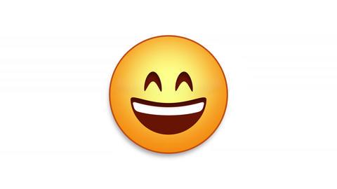 Happy Sweat Emoji Animated Loops with Luma Matte Animation