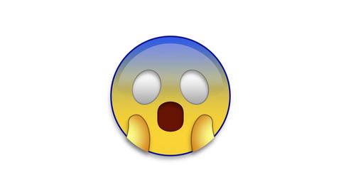 Scream Emoji Animated Loops with Luma Matte Stock Video Footage