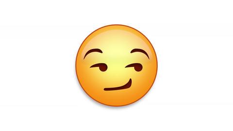Smirking Emoji Animated Loops with Luma Matte Animation