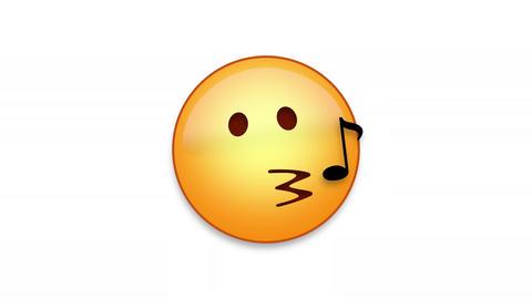 Whistling Emoji Animated Loops with Luma Matte Animation
