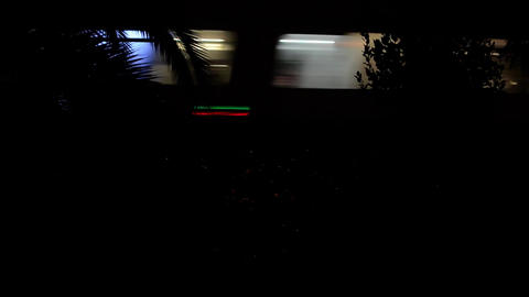 High-speed train that passes by my house at night 53 Live Action