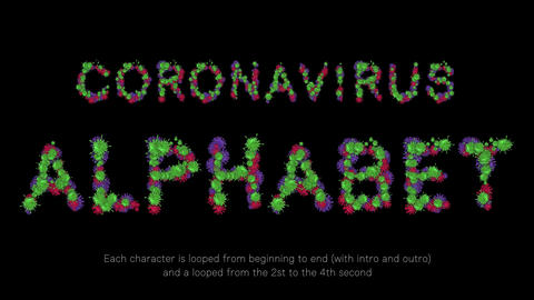 Coronavirus Alphabet Project After Effects Template