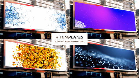 4 templates for outdoor advertising After Effects Template
