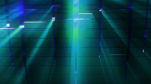 Elegant Grid Light Rays Cyan_01 2