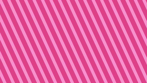 斜めのストライプ ピンク 細い ループ CG動画