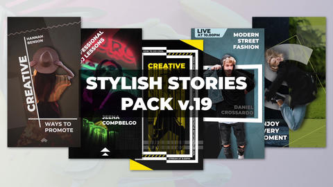 Stylish Stories Pack v 19 After Effects Template