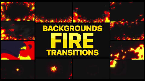 Fire BackGround And Transitions Motion Graphics Template