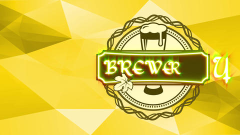 striking brewery design composed with overflowing brew glassware located inner classy circular Animation
