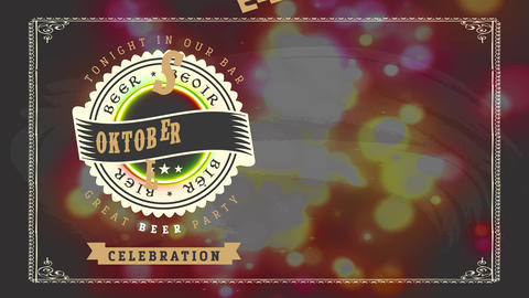 great big octoberfest party calling design from brew pub bar manipulation classic typography and Animation