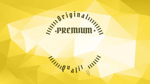 original premium quality beer design with wester and vintage lettering creating rounded figure Animation
