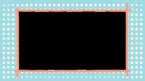 水玉模様とフレーム CG動画